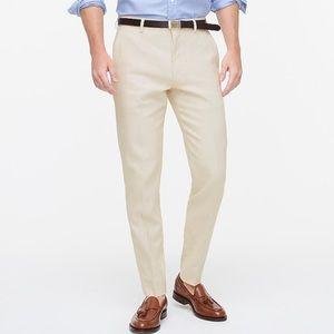 J crew purple slim suit pants stretch cotton linen